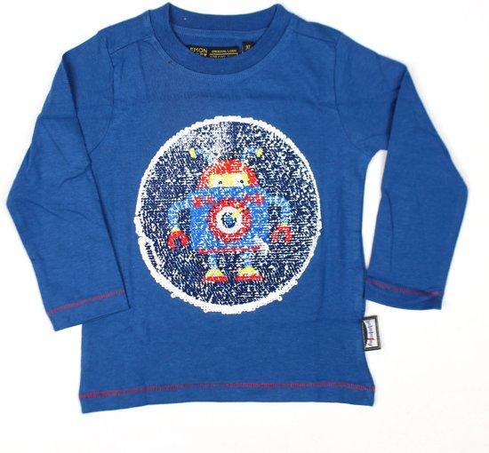 98c58fa508b bol.com | Lemon Beret t-shirt jongens - blauw - 140146 - maat 92/98