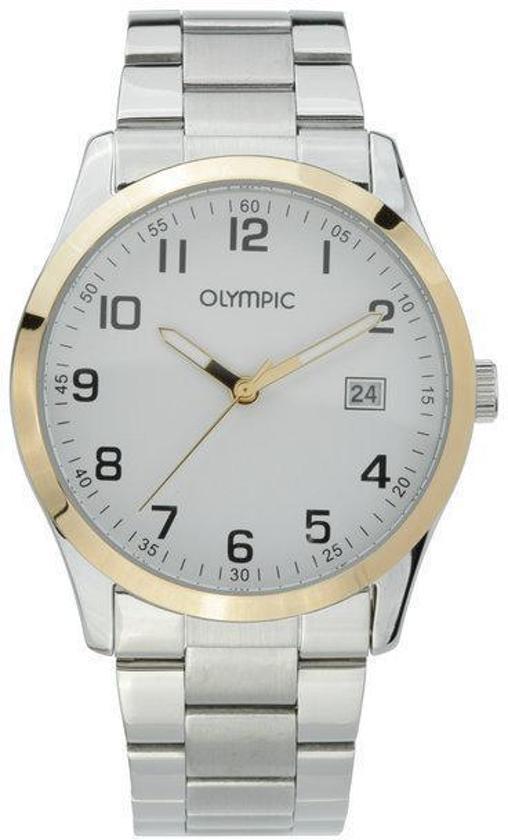 Olympic OL26HSS255B Horloge - Staal - Zilverkleurig - 40 mm