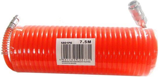 VDT spiraal luchtslang - PE 7.5 meter - Oranje