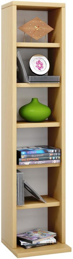 cd dvd kast meubel vakkenkast elementa beuken