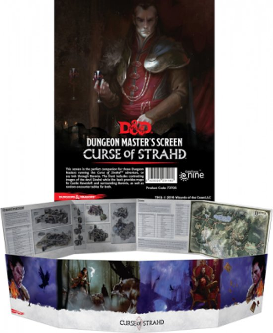 D&D Curse of Strahd DM Screen