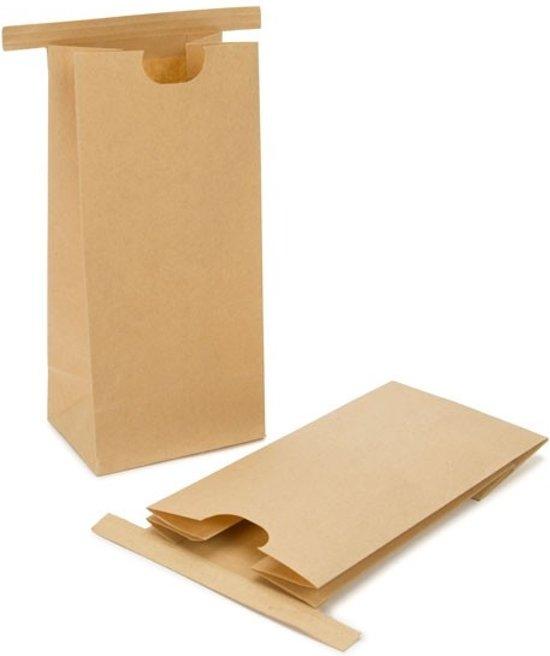 Zakken Kraft Bruin met Sluiting 8,6x6,4x19,7cm (100 stuks)