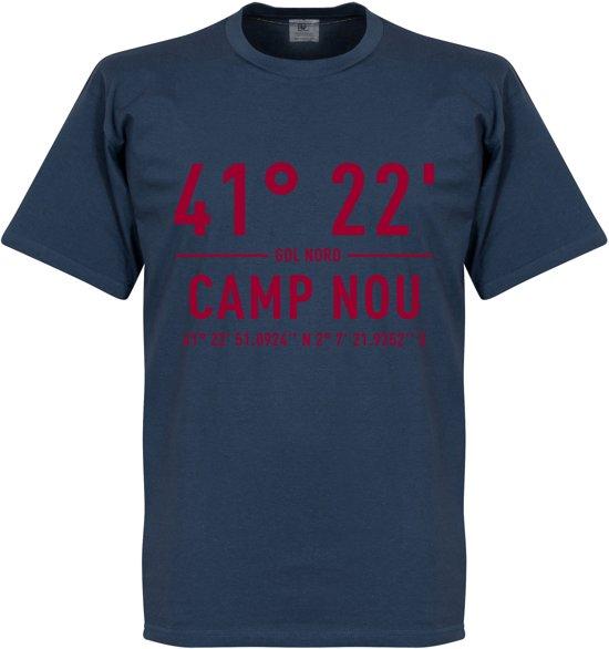 Camp shirtBlauw Coordinaten Nou Barcelona T L EDYbeW29IH