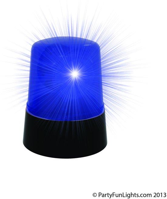 Disco Politie Lamp - Blauw