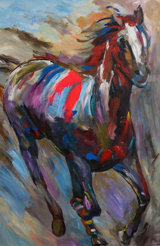 Super Schilderij modern paard 60x90 Artello - Handgeschilderd KF-24