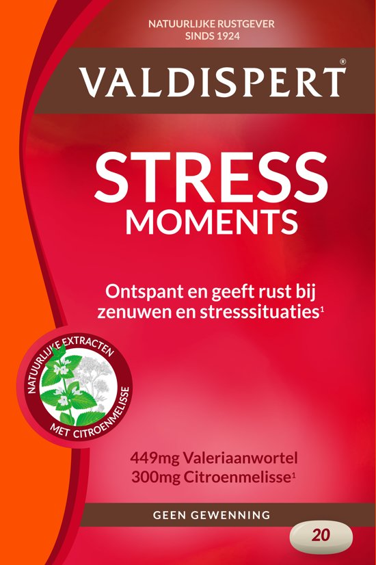 Valdispert Stress Moments  - 20 Tabletten - Voedingssupplementen