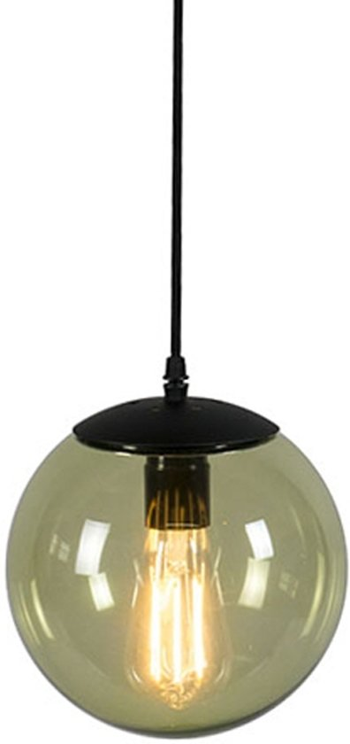 QAZQA Pallon 20 - Hanglamp - 1 lichts - H 1800 mm - groen