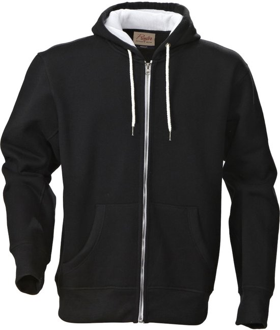 Printer Hoop Hoody Sweatjacket Black XL