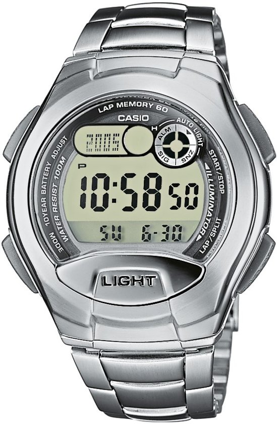 Casio W-752D-1AVES - Horloge - Staal - Grijs - Ø 42.40 mm