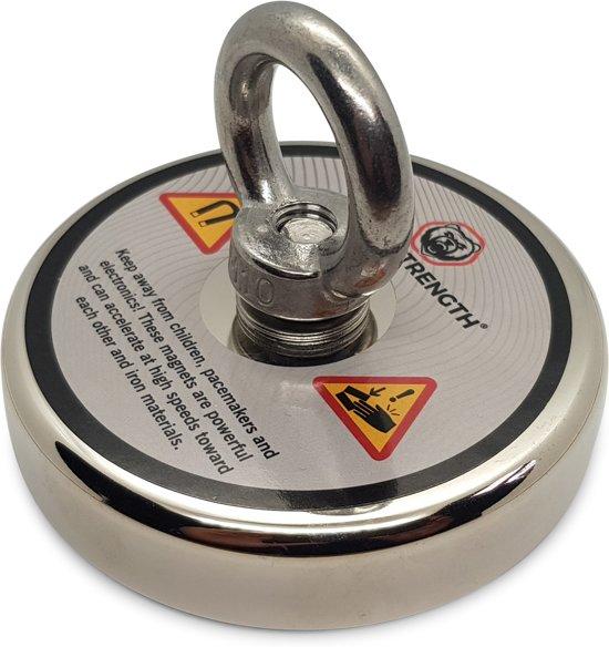 Super sterke Vismagneet - 350 kg - voor magneetvissen - vis magneet -  magneet vissen - onderwater vis magneet - met schroefdraadborgmiddel (10 ml)