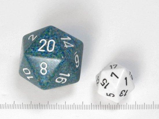 Chessex dobbelsteen, 34 mm 20-zijdig, Speckled Sea