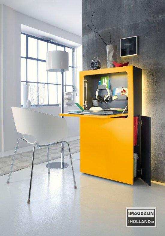 Bureau smaider hoogglans wit urban favourites kopen for Bureau urban