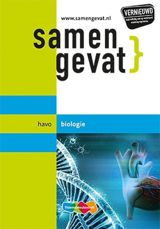 Boek cover Samengevat havo Biologie 6e druk van E.J. van der Schoot (Paperback)