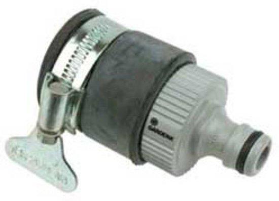 Gardena waterdief 15 20 mm for Tuinslang aansluiten op kraan zonder schroefdraad