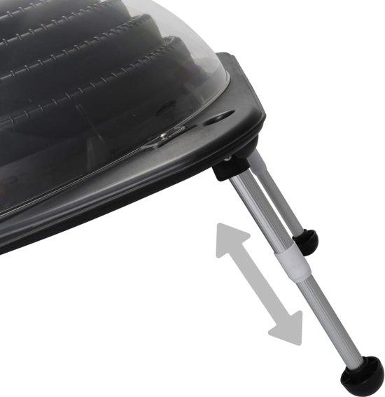 vidaXL Zwembadverwarming solar 75x75x36 cm HDPE aluminium