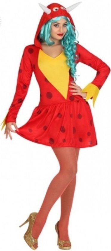 Rode draak kostuum voor dames 38 (m) - Draken pak
