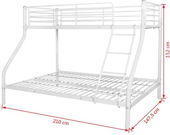 Wit Metalen Stapelbed.Stapelbed Voor Kinderen 200x140 200x90 Cm Metaal Wit