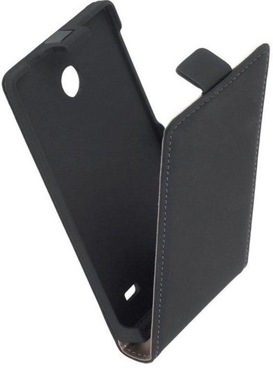 MiniPrijze - Zwart Nokia X Premium lederen flip case flip cover - klap cover - bechermhoes. in Schimmert
