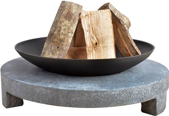 Vuurschaal met sokkel van graniet