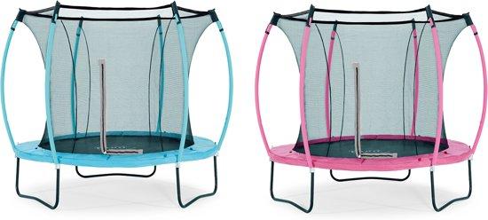 Plum Colours Springsafe - Trampoline - 8ft - omkeerbaar - Roze/Turquoise