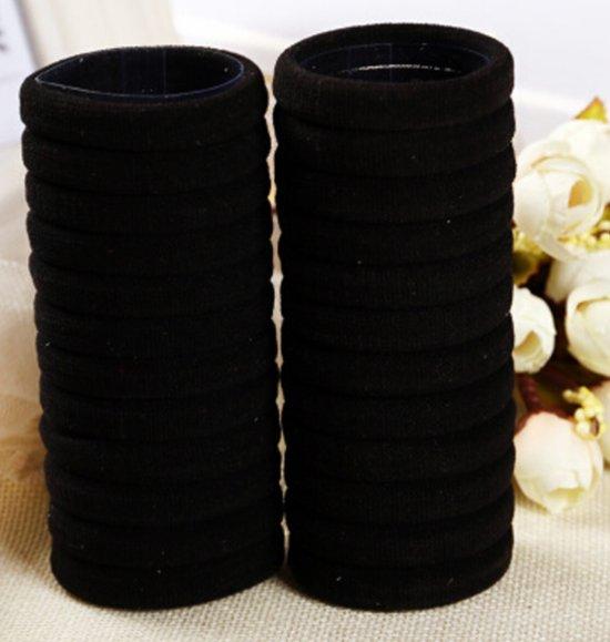 50 Haarelastiekjes Zwart
