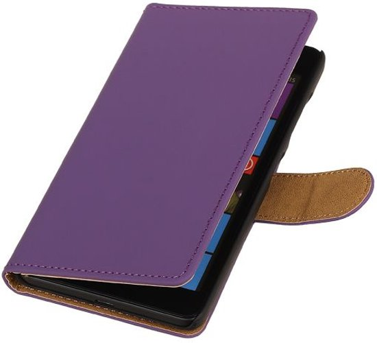 Microsoft Microsoft Lumia 535 Paars | bookstyle / book case/ wallet case Hoes  | WN™