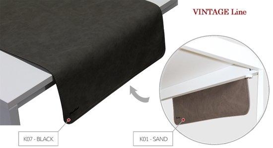 Pavelinni tafelloper Vintage 45x120cm Sand/Black