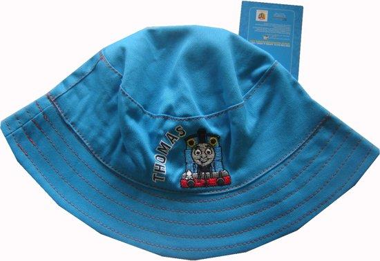 Blauw zomers hoedje van Thomas de Trein maat 80-98