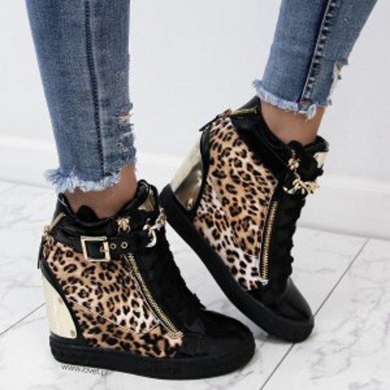 dames sneakers met sleehak
