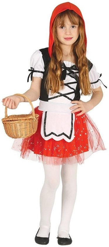 Roodkapje verkleed kostuum/jurkje voor meisjes 5-6 jaar (110-116)