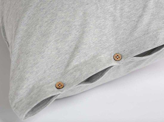 Yumeko Kussensloop jersey grijs 50x60
