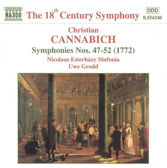 Cannabich: Symphonies no 47-52 / Uwe Grodd, et al
