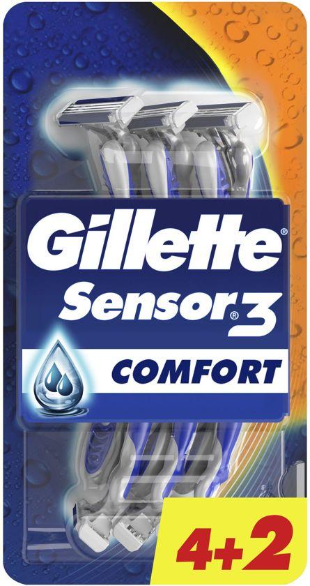 Gillette Sensor3 Comfort - 6 stuks - Wegwerpmesjes