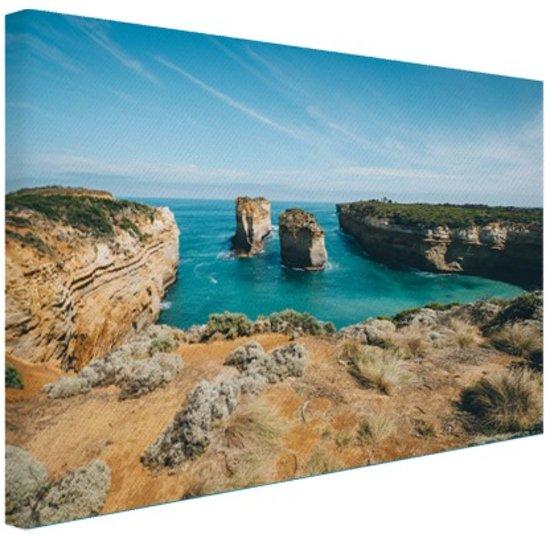 De eilandboog Canvas 60x40 cm - Foto print op Canvas schilderij (Wanddecoratie)