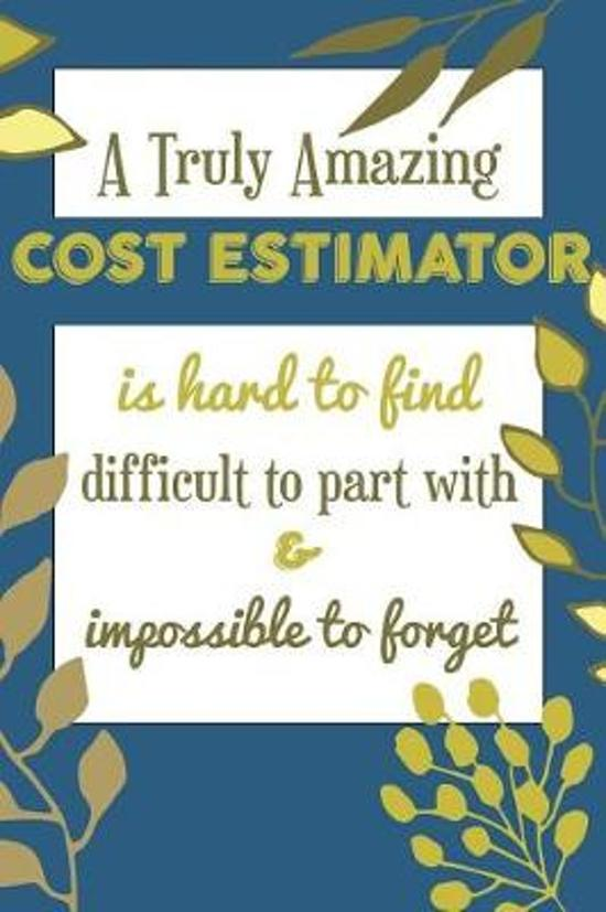 A Truly Amazing COST ESTIMATOR Is Hard To Find Difficult To Part With & Impossible To Forget