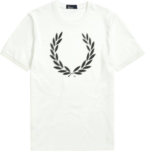 Fred Perry Shirt - Maat L  - Mannen - wit/ zwart