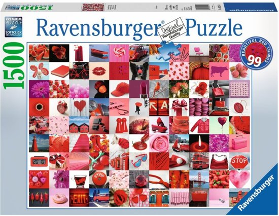 Ravensburger Puzzel 99 Beautiful Red Things Legpuzzel 1500 Stukjes