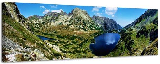 Vallei van de 5 meren - Canvas Schilderij Panorama 118 x 36 cm