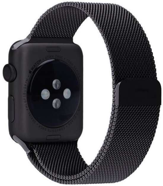 Milanees Apple Watch Bandje 42mm Black