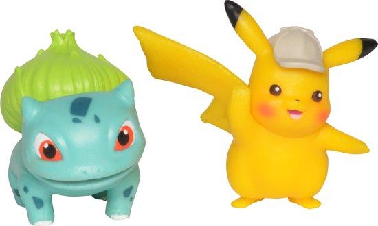 Afbeelding van Detective Pikachu Battle Speelfiguren - Pikachu #1 (5 cm) & Bulbasaur (5 cm) speelgoed