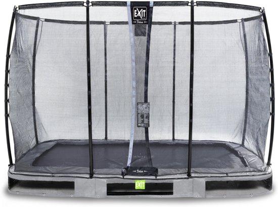 EXIT Elegant Premium Inground Trampoline 214 x 366 cm met Deluxe Veiligheidsnet