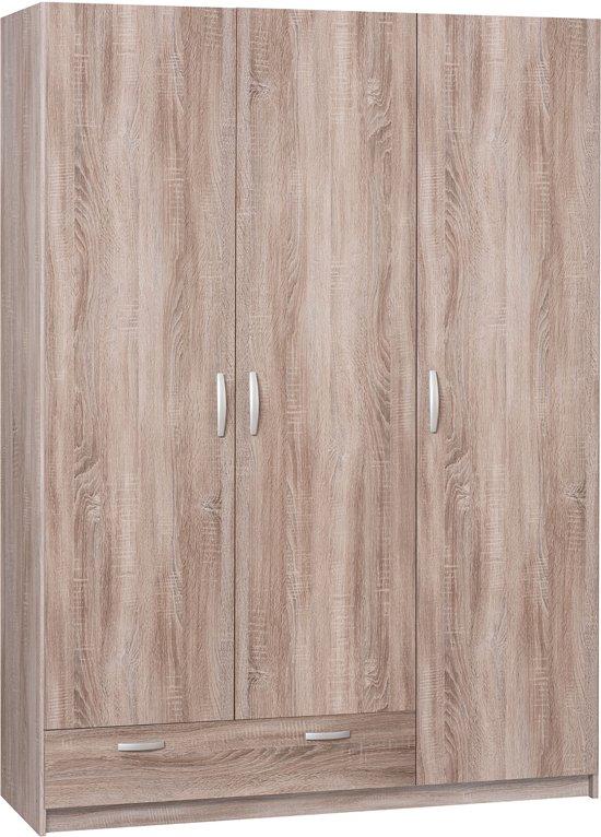 True Furniture Kansas 13R - Kledingkast - Truffel eiken