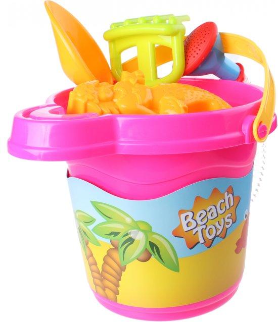 Free And Easy Strandemmerset Beach Toys 22 Cm Roze 7-delig