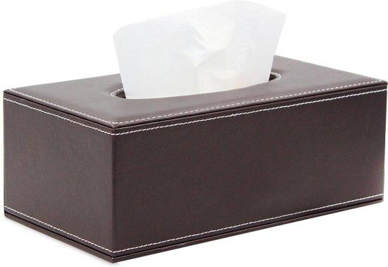 Wonderlijk bol.com | Tissue Box Houder – Luxe Doos voor Servetten UG-97
