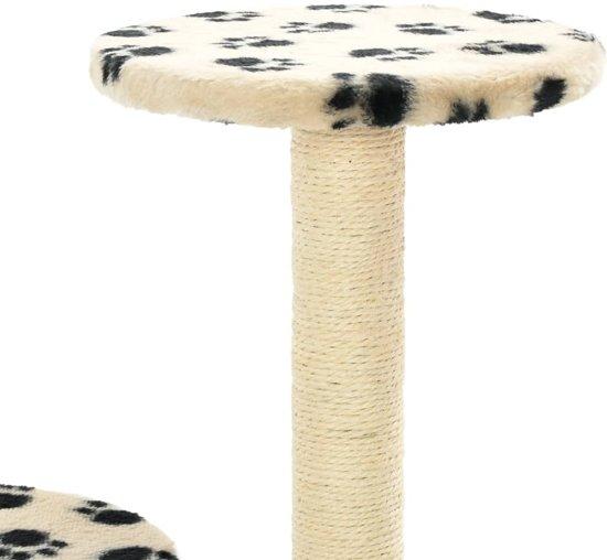 vidaXL Kattenkrabpaal met sisal krabpalen 60 cm pootafdrukken beige