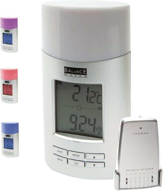 Radio-Controlled Weather Station Indoor and Outdoor White