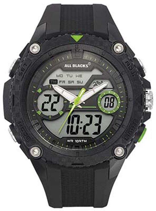 All Blacks 680359 digitaal/ analoog horloge 45 mm 100 meter zwart