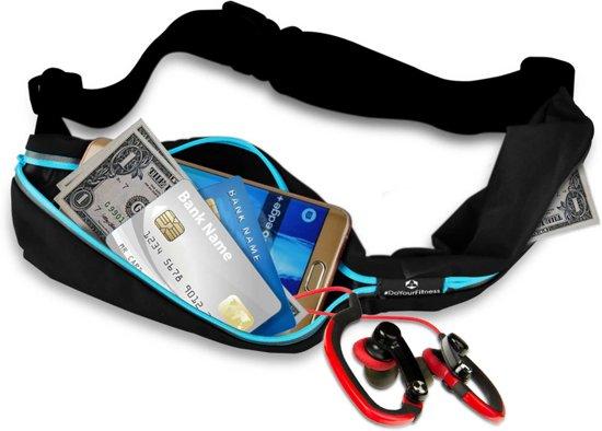 #DoYourFitness - Loopriem - »Run4Fun« - heuptas / ritszak voor hardlopen ,elastisch, waterdicht - mobiele telefoon tot ca. 5,5 inch - blauw