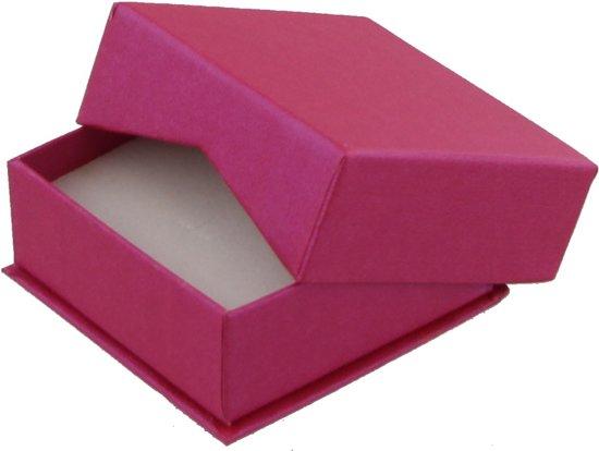 Luxe Giftbox voor Oorbellen - Sieradendoosje - Set van 10 Stuks - 6,5x6,5x2,8 cm - Roze - Dielay