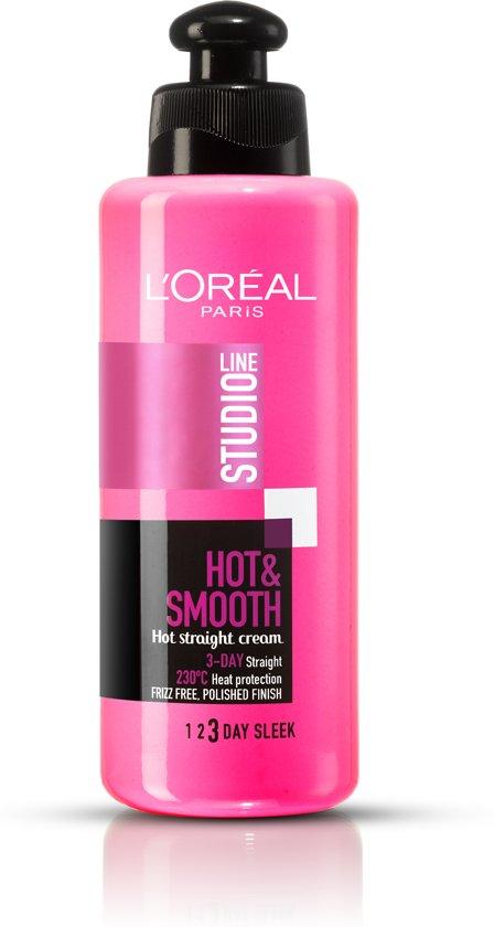 L'Oréal Paris Studio Line Hot & Smooth Haarcème - 200 ml - Gladmakend